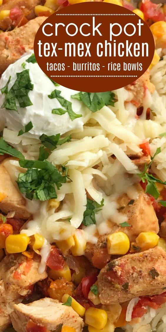 Slow Cooker Tex-Mex Chicken | Easy Crock Pot Recipe | Slow Cooker Recipes | Tex-Mex Chicken is made