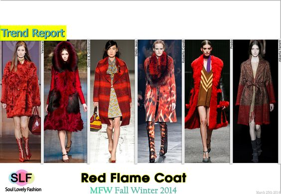 Red FlameCoat #Fashion Trend for Fall Winter 2014 #FW2014 #Fall2014Trends