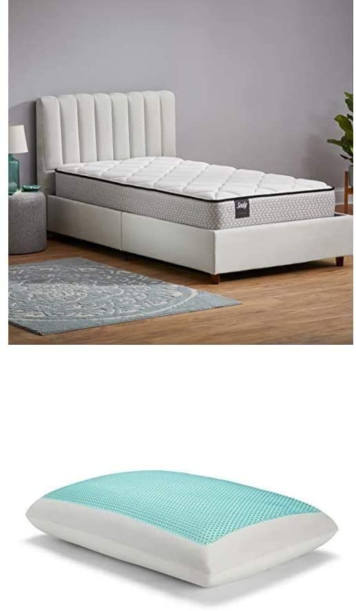 Sealy 10 Inch Twin Innerspring Bed In A Box Essentials Memory Foam Gel Cooling Pillow Set In 2020 Box Bed Best Pillow Pillow Set