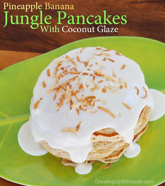 The Jungle Book Diamond Edition and Pineapple Banana Jungle Pancakes /  El Libro de la Selva y Receta de Pancakes de Banano y Piña