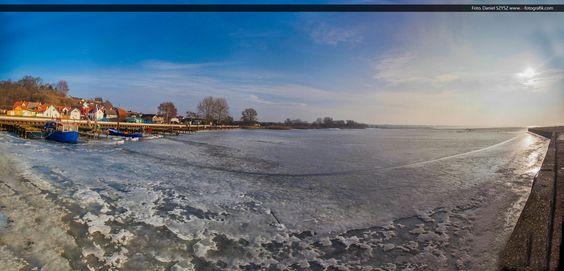 Zima w Kamminke – zamarznięty Zalew Szczeciński | Świnoujście w sieci
