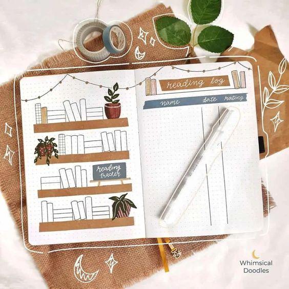 Tenir un reading journal dans votre Bullet Journal