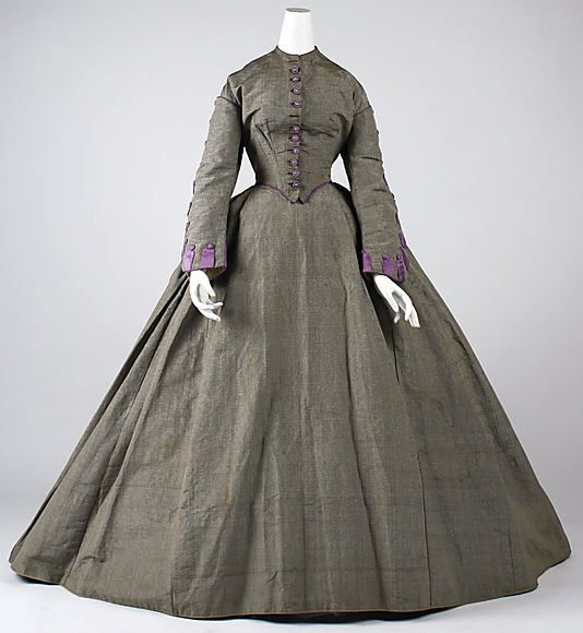 Dress, Afternoon Date: 1860s Culture: American Medium: silk Dimensions: (no dimensions available)