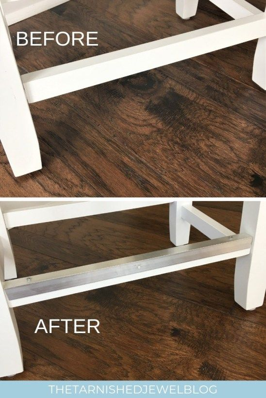 Diy Bar Stool Metal Foot Rest Tutorial Hack Thetarnishedjewelblog Diy Bar Stools Diy Bar Bar Stools