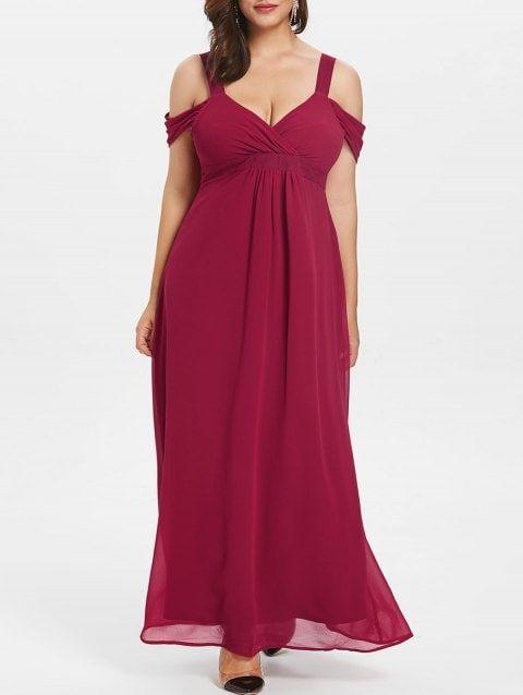 Sweetheart Neck Plus Size Empire Waist Maxi Dress fashion ...