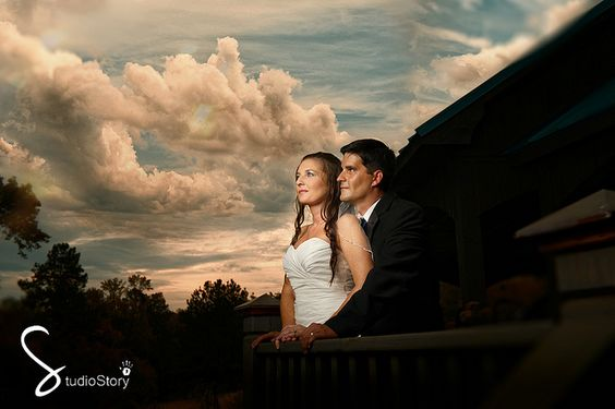 I call this after the storm! It rained on this wedding day but the images came out wonderful!