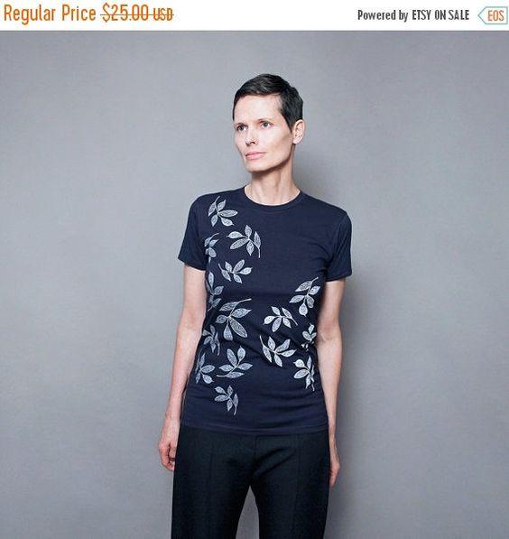 VERKOOP vrouwen t shirt, grafische blad afdrukken, T shirt voor vrouwen, scherm gedrukte natuur t shirt, natuur liefhebber shirt
