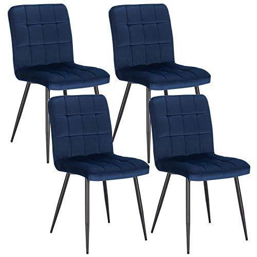 lestarain lot de 4 chaises de salle a