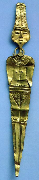 Female Figurine from Gezer, Israel sheet-gold, height 4 inches (10 cm) 16th century BCE (Israel Museum, Jerusalem)