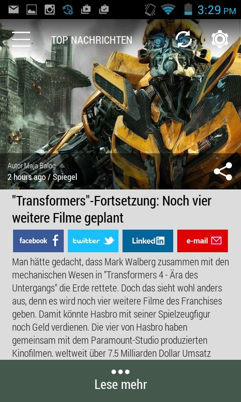 #transformers #markwahlberg  Born2Invest: die besten Geschäfts- und Finanznachrichten aus den vertrauenswürdigen Quellen. Jetzt unsere kostenlose Android App herunterladen.
