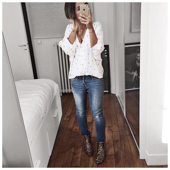 «Tenue du jour sous gilet Cachemire et manteau ⚪️ • Shirt #lesprairiesdeparis (old) • Jean #levis modèle 711 surtaillé (from @levis_fr) • Boots…»