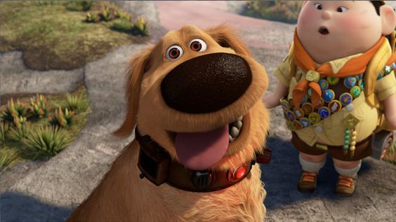 """""""Hey, I know a joke. A squirrel walks up to a tree and says I forgot to store acorns for winter and now I am dead. Ha! It is funny because the squirrel gets dead."""" - Dug, from Up"""