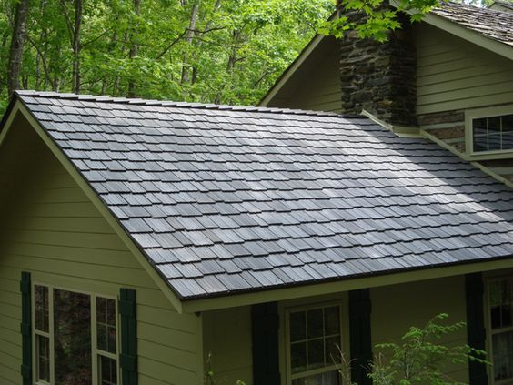 Roof tiles shake and a natural on pinterest for Polymer roofing