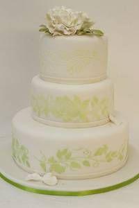 Hochzeitstorte im Farbmotto Grün-Weiß  Torte: suess-und-salzig.de