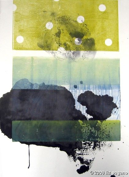 easy peasy monotype by Liz Pagano