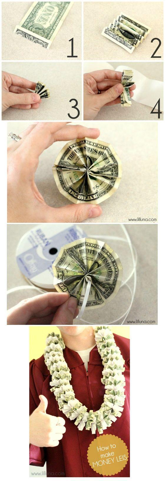 Diy tutorial leis how to make money leis money lei for Diy to make money