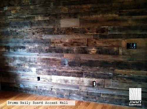Ready To Install Naily Board Brown Reclaimed Wood Wall Barnwood Planks Barnwall Siding Reclaimed Naily Board Recl Wall Planks Wood Wall Wooden Accent Wall