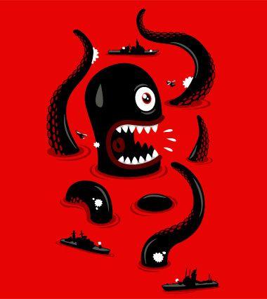 Ein knalliges, buntes Octopus Shirt für den Sommer!