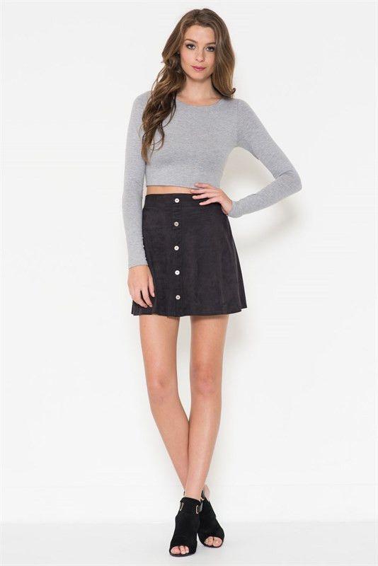 Mini skirts, Suede mini skirt and Minis on Pinterest