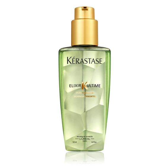 LOVE, LOVE, LOVE this new product line from Loreal's high end line Kerastase. The best new pre-styling product that I have tried in years! Elixir Ultime is a very fine blend of the lightest, most nourishing oils that gives most hair types, except the very finest, shine, volume control and NEVER leaving it greasy!  HIGHLY RECOMMENDED!!!