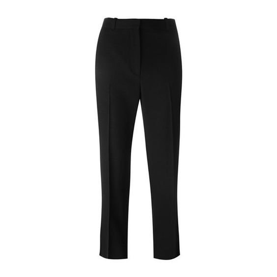 GIVENCHY Cropped Tuxedo Trousers (65,440 INR) ❤ liked on Polyvore featuring pants, capris, black, cropped trousers, givenchy, highwaist pants, givenchy pants and cropped pants