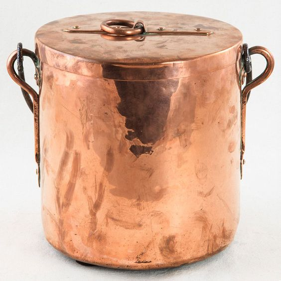 Copper Pot from French Metro Antiques