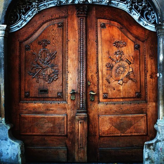 Medusa's Doorway......Medusa's head is one of the many carvings on this gorgeous door!