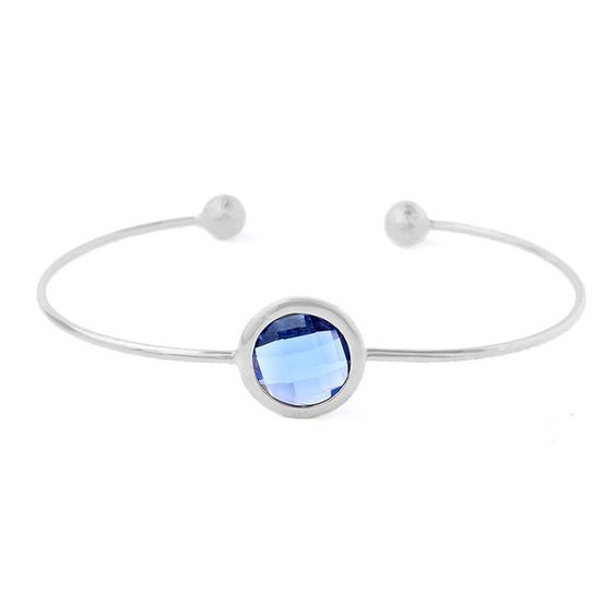 Iris Silver/Blue Night Jonc Bracelet