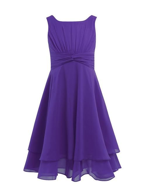 Sleeveless Girls Purple Party Dress Wedding Ideas Purple Party