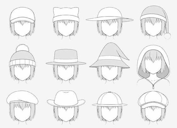 Bức vẽ nón anime đã được tô bóng