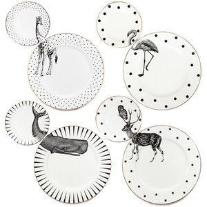 yvonne ellen animal plate set of 4 135