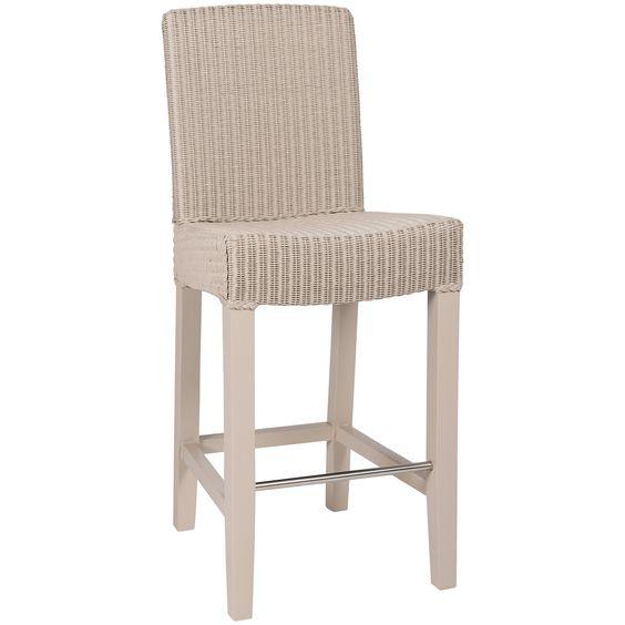 Lloyd Loom Neptune Montague Bar Chair, Pale Stone