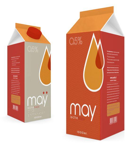 May Milk Packaging by Labdiseño Chile, via Behance