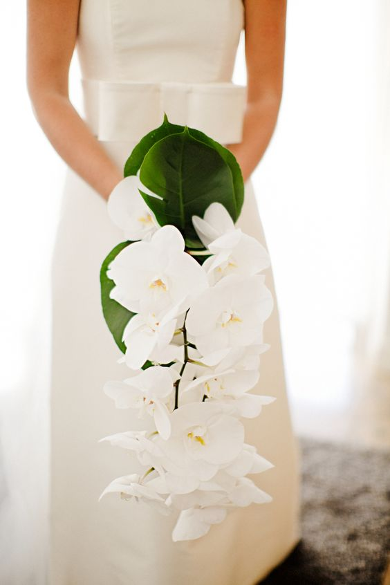 Bouquet Orchidée Plongeant - suggérer rose / blanc