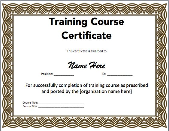 Doc506391 First Aid Certificate Template First Aid Training – Training Certificate Template