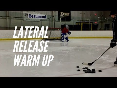 Lateral Release Drill For Goalies W Rob Liddell Youtube Goalie Drill Hockey Goalie