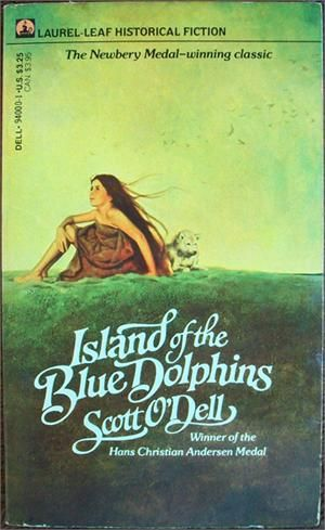 """Island of the Blue Dophins"", by Scott O'Dell loved this book when I was a kid"