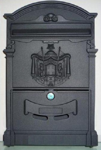 Black Color Industrial Commercial Aluminum Wall Mount Security Mailbox Mail Box W Key Lock By