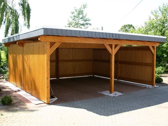 Wooden carport ideas in the backyard c a r p o r t s for Wooden garage plans