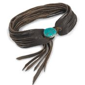 Shredded Leather with Turquoise