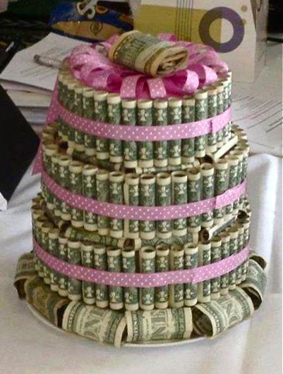 Dollar Cake Images : I want this with 100 dollar bills. . .:) #cakes # ...