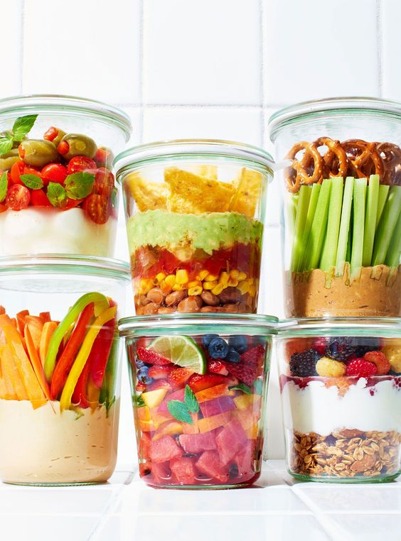 6 Snacks In A Jar That Will Become Your New Obsession  #refinery29  http://www.refinery29.com/snack-ideas-mason-jar-recipes