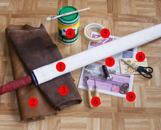 Cloth Sword Scabbard (description in German)