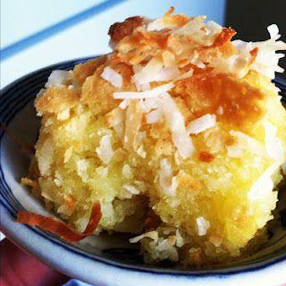 Classic butter mochi, a Hawaiian Hapa comfort food.