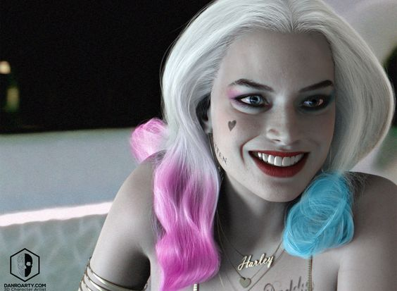 Harley Quinn / Margot Robbie , Dan Roarty on ArtStation at https://www.artstation.com/artwork/6eaYV