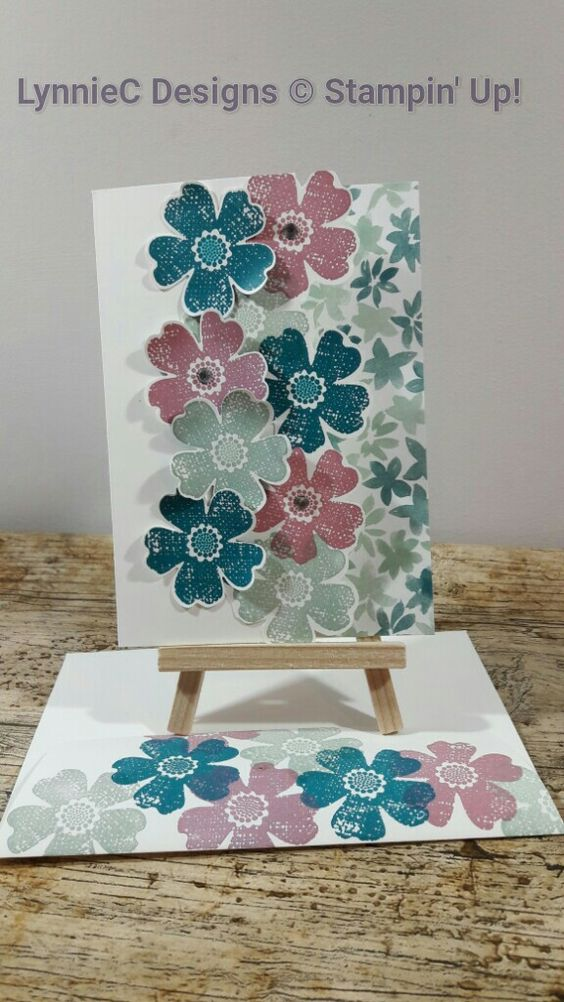 Card usong Flower Shop SU stamp set and matching punch: