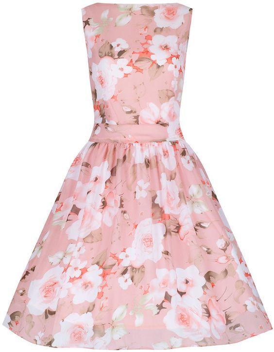 Pastel Pink Chiffon Tea Dress - Little Wings Factory - £40