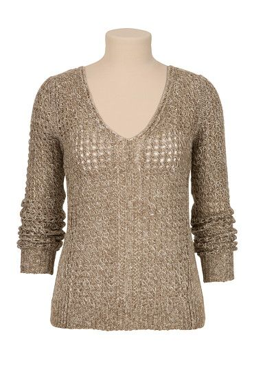V-Neck Novelty Stitch Sweater (original price, $34) available at #Maurices