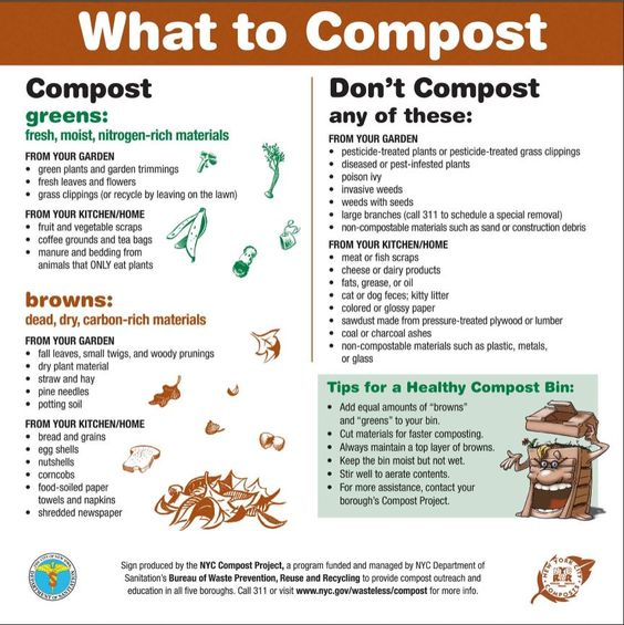 Trench Composting With Kitchen Scraps: PDF Of Sign For What To Compost And The Things You Don't