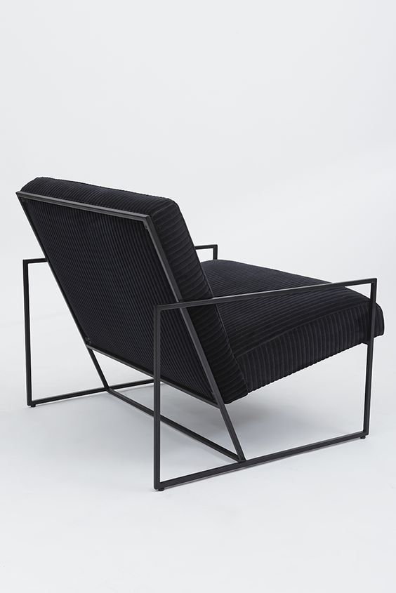 Thin Frame Lounge Chair Objects Pinterest Black